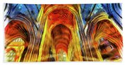 Bath Abbey Sun Rays Art Beach Towel