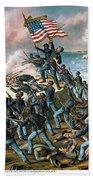Battle Of Fort Wagner, 1863 Beach Sheet
