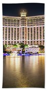 Bellagio Hotel On Nov, 2017 In Las Vegas, Nevada,usa. Bellagio I Beach Towel