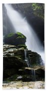Big Bradley Falls North Carolina Beach Towel