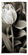 Black And White Tulip Beach Towel