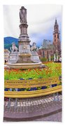 Bolzano Main Square Waltherplatz Panoramic View Beach Towel