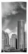 Boston Skyline 1980s Beach Towel