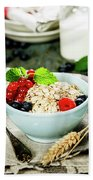 Breakfast With Oats And Berries Beach Towel