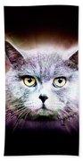 British Shorthair Cat Beach Towel