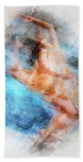 Butterfly Ballerina Watercolor   Beach Towel