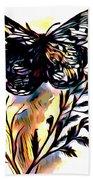 Butterfly Sketch Beach Towel