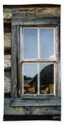 Cabin Window Beach Towel