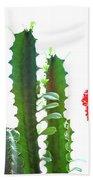 Cactus Plants Beach Towel
