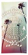 California Palms I Beach Towel
