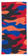 Camouflage Pattern Background Seamless Clothing Print, Repeatabl Beach Towel