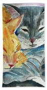 Kitty And Kat Beach Towel