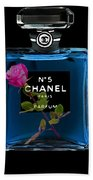 Chanel With Rose Beach Towel