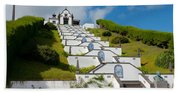 Chapel In Azores Islands Beach Towel