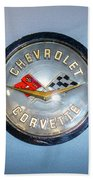 Chevrolet Corvette Badge Beach Towel