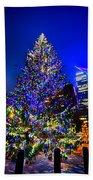 Christmas Tree Near Panther Stadium In Charlotte North Carolina Beach Towel