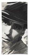 Christopher Lee, Vintage Actor Beach Towel