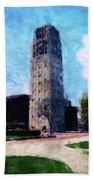 Clock Tower Beach Towel