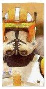 Clone Trooper Commander Beach Towel