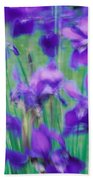 Close-up Of Purple Flowers Beach Towel