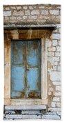 Closed Door Of An Old Chapel In Croatia Beach Towel