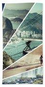 Collage Of Rio De Janeiro  Beach Towel