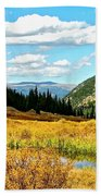 Colorado Mountain Lake In Fall Beach Towel