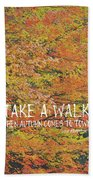 Colors Of Fall Quote Beach Sheet