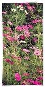 Cosmos Flowers  Beach Sheet