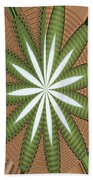 Cotton Field Abstract Beach Towel