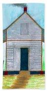 Cracker Cabin Drawing Beach Towel