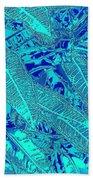 Croton Series - Blue Beach Towel