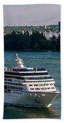 Cruise Ship 4 Beach Towel
