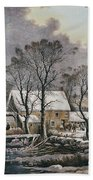 Currier & Ives: Winter Scene Beach Towel