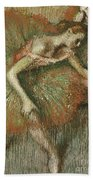 Dancers Beach Towel by Edgar Degas