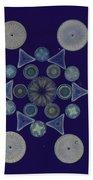 Diatom Arrangement Beach Towel