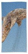 Dolphin Shell Art Sculpture Beach Towel