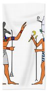 Egyptian Gods And Goddess Beach Towel by Michal Boubin