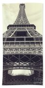 Eiffel Tower By The Seine Beach Towel
