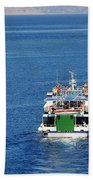 Emborio Harbour On Halki Beach Towel