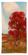 Fall Landscape Beach Towel