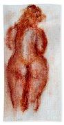 Fat Nude Woman  Beach Towel
