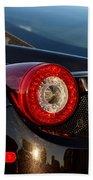 Ferrari Tail Light Beach Towel