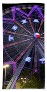 Ferris Wheel At The Texas State Fair In Dallas Tx Beach Towel