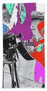 Film Homage Andy Warhol Lonesome Cowboys Old Tucson Arizona 1968-2013 Beach Towel