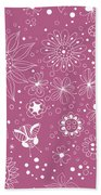 Floral Doodles Beach Towel