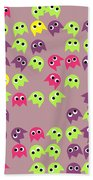 Game Monsters Seamless Generated Pattern Beach Towel