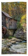 Glade Creek Grist Mill Beach Towel