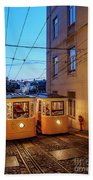 Gloria Funicular, Lisbon, Portugal Beach Towel