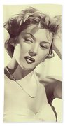 Gloria Grahame, Vintage Actress Beach Towel